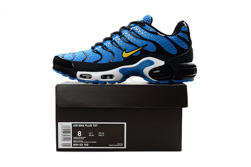 new style 71308 0060d ... Nike Air Max Plus TXT TN KPU Navy Blue Black Men Sneakers Running Trainers  Shoes 604133 ...