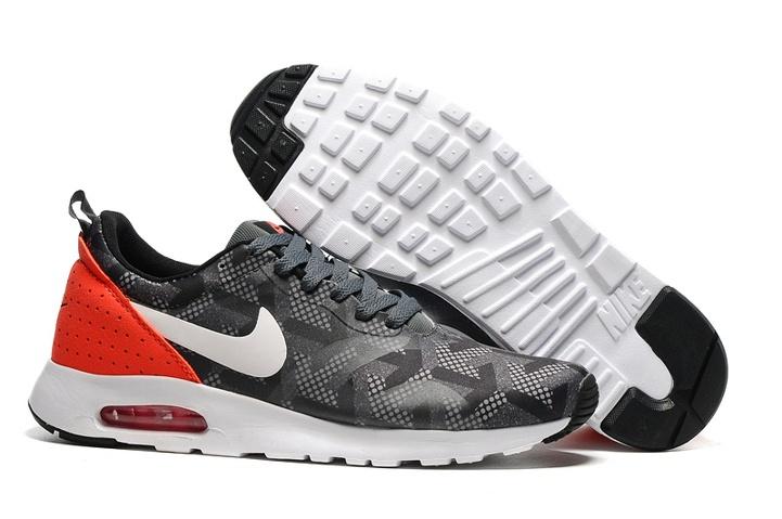 Mens Shoes Nike Air Max Tavas SE Cool Grey White Black Bright Crimson 718895 006 718895 006