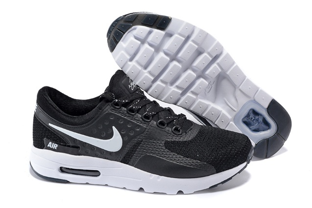 differently 0508d 32102 Prev Nike Air Max Zero QS NikeID Black White Men Women Running Shoes 789695- 009