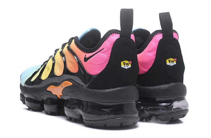 4fe73758f4a2e Nike Air Vapor Max Plus TN TPU Running Shoes Black Yellow Pink - Febbuy