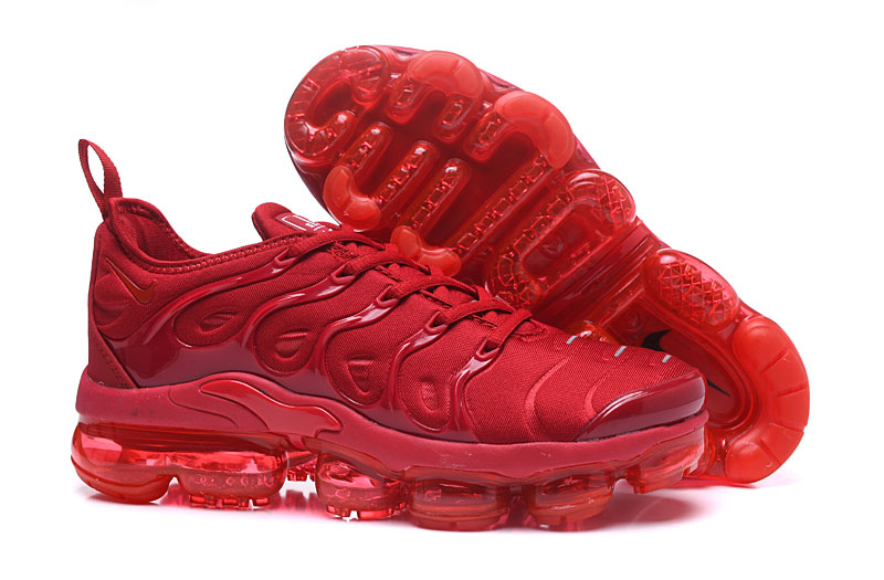 new style 3e240 ef0c4 Nike Air Vapor Max Plus TN TPU Running Shoes Chinese Red All