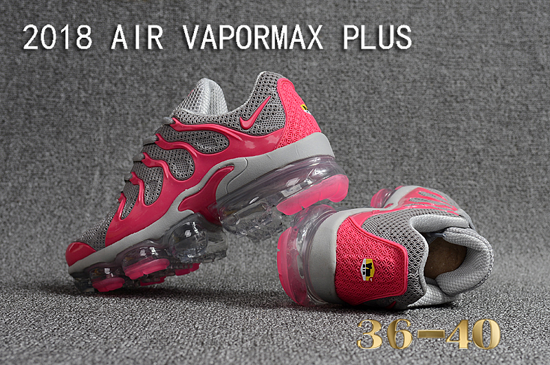 62e4f3a92fc97 Nike Air Vapor Max Plus TN TPU Running Shoes Grey Pink - Febbuy