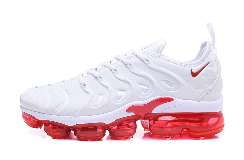 best authentic 81aa5 a61a7 Nike Air Vapor Max Plus TN TPU Running Shoes White Red