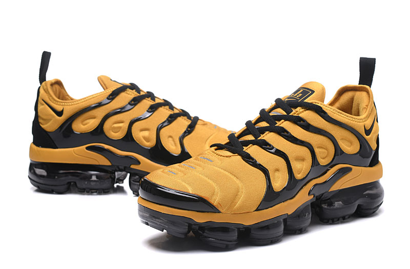 7572541a94 Nike Air Vapor Max Plus TN TPU Running Shoes Yellow Black - Febbuy