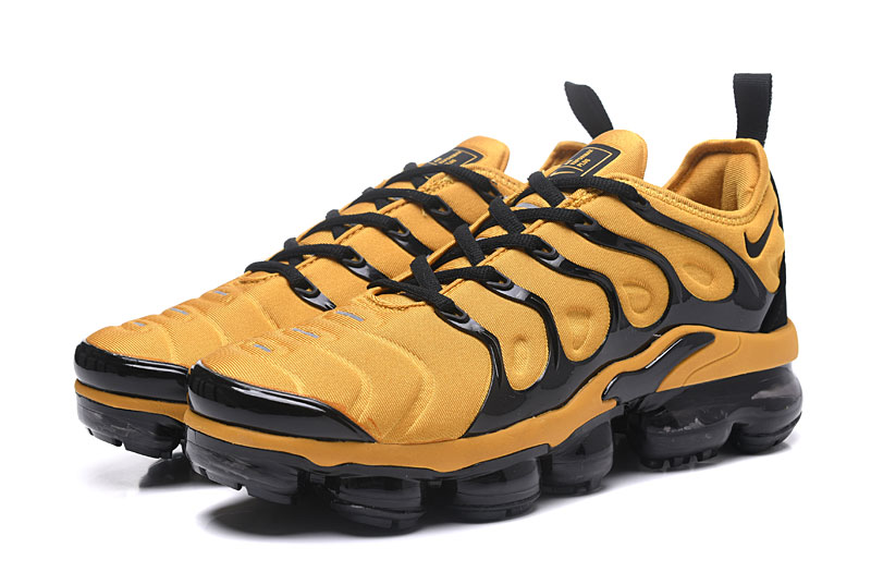 929ba3763ff Nike Air Vapor Max Plus TN TPU Running Shoes Yellow Black - Febbuy