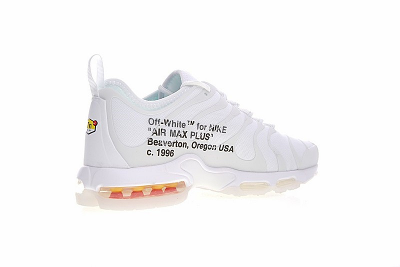 best service 39480 9e54e OFF White X Nike Air Max Plus TN Ultra Sneakers White Black AA3827-100