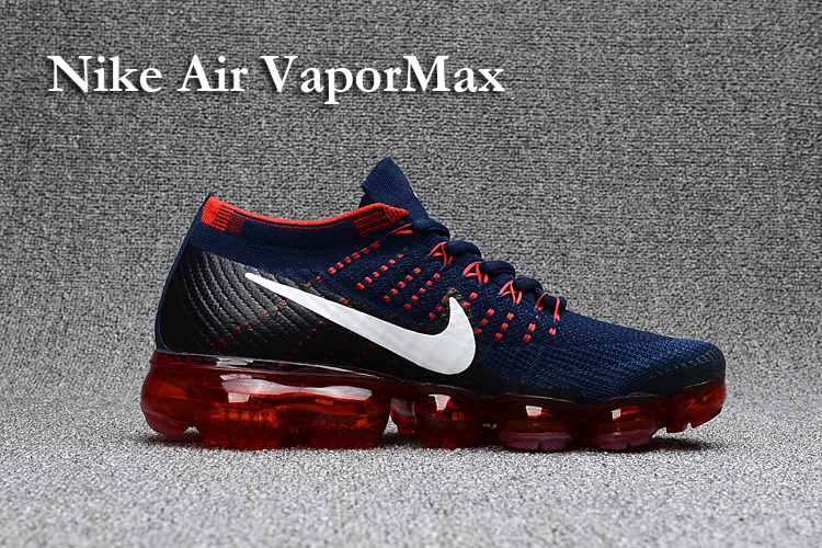 91b2182bedca Prev Nike Air VaporMax 2018 deep blue red men Running Shoes. Zoom