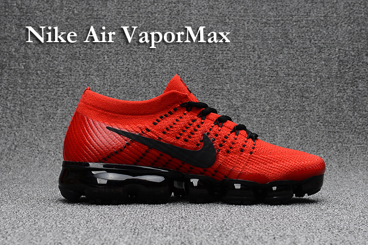 d811a918e2 Nike Air VaporMax 2018 red black men Running Shoes - Febbuy