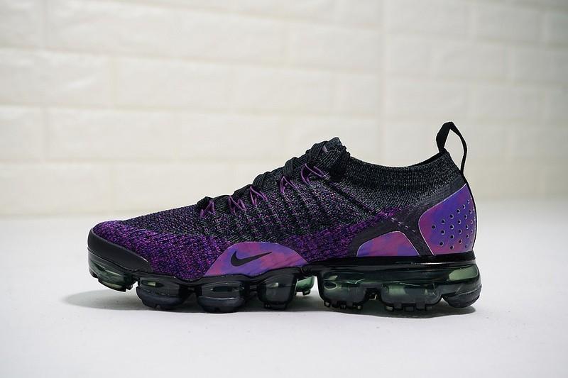 d8cfc16019 Nike Air VaporMax Flyknit 2.0 Black Purple Dark 942843-013 - Febbuy
