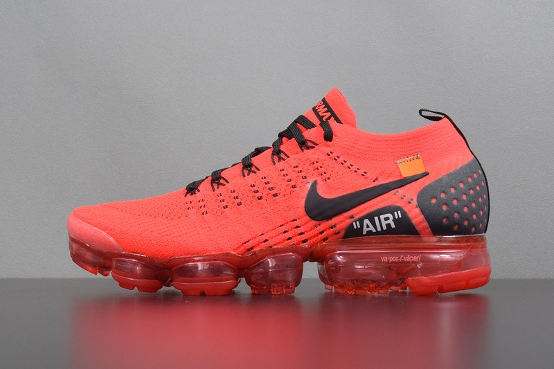36faa944cc97 Nike Air VaporMax Flyknit 2.0 Red Black 942842-006 - Febbuy