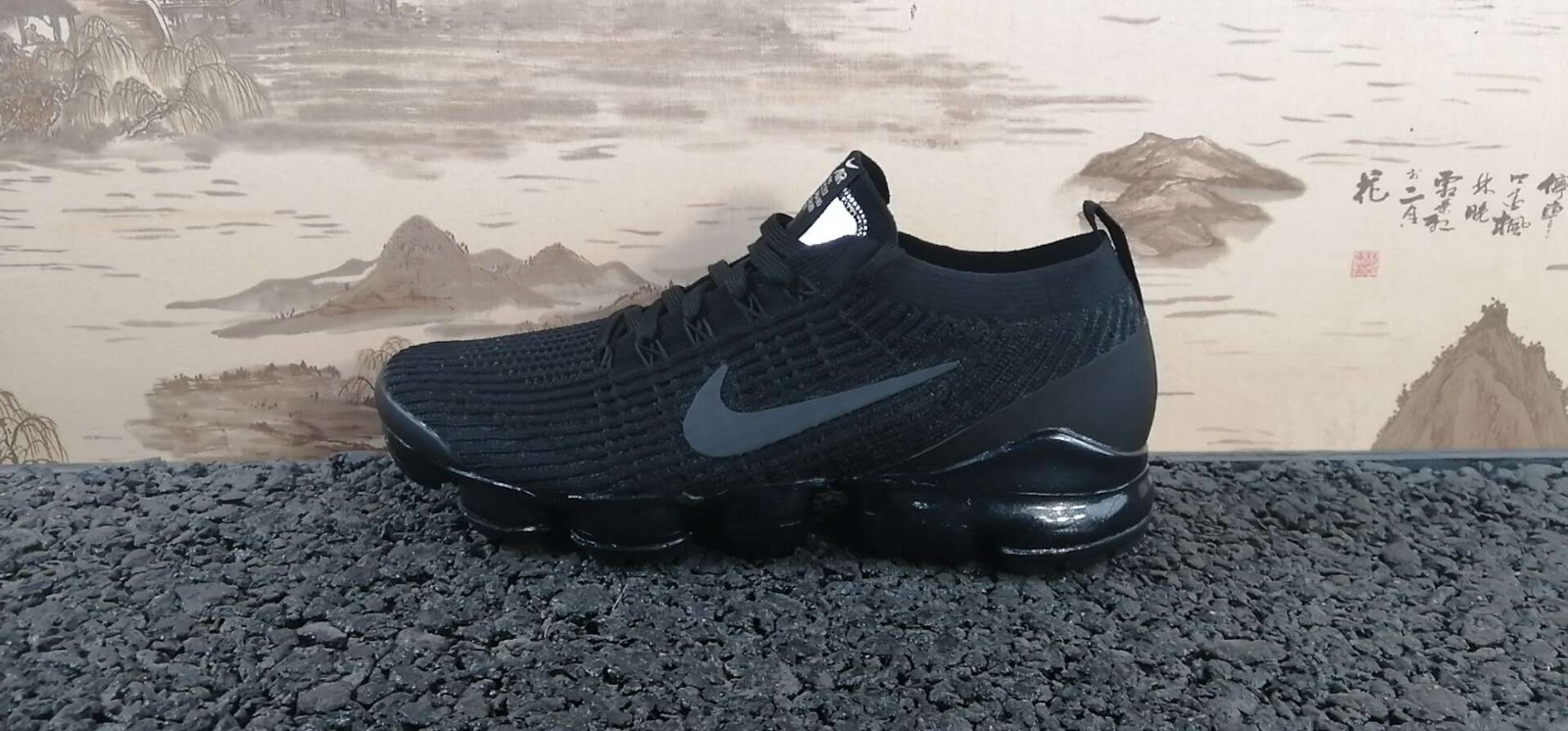 nike air vapormax flyknit 3 mens black grey blue shoes