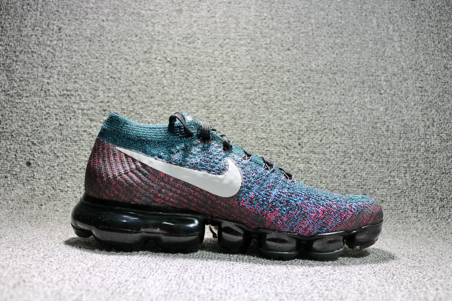 e87bba5b09 Nike Air VaporMax Flyknit Black Purple Red colorful 849558-403 - Febbuy