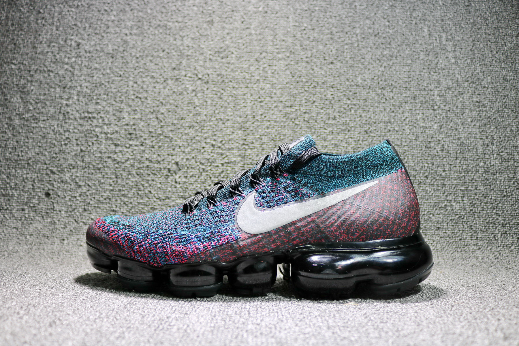 competitive price 2b120 85789 Nike Air VaporMax Flyknit Black Purple Red colorful 849558-403 - Febbuy