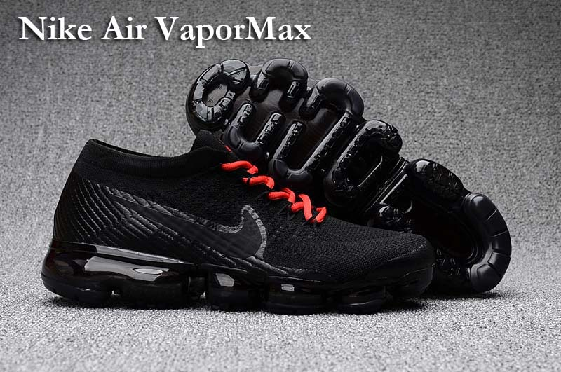 7f05234b14b0c Prev Nike Air VaporMax Men Women Running Shoes Sneakers Trainers Pure Black  Red Lace 849560. Zoom