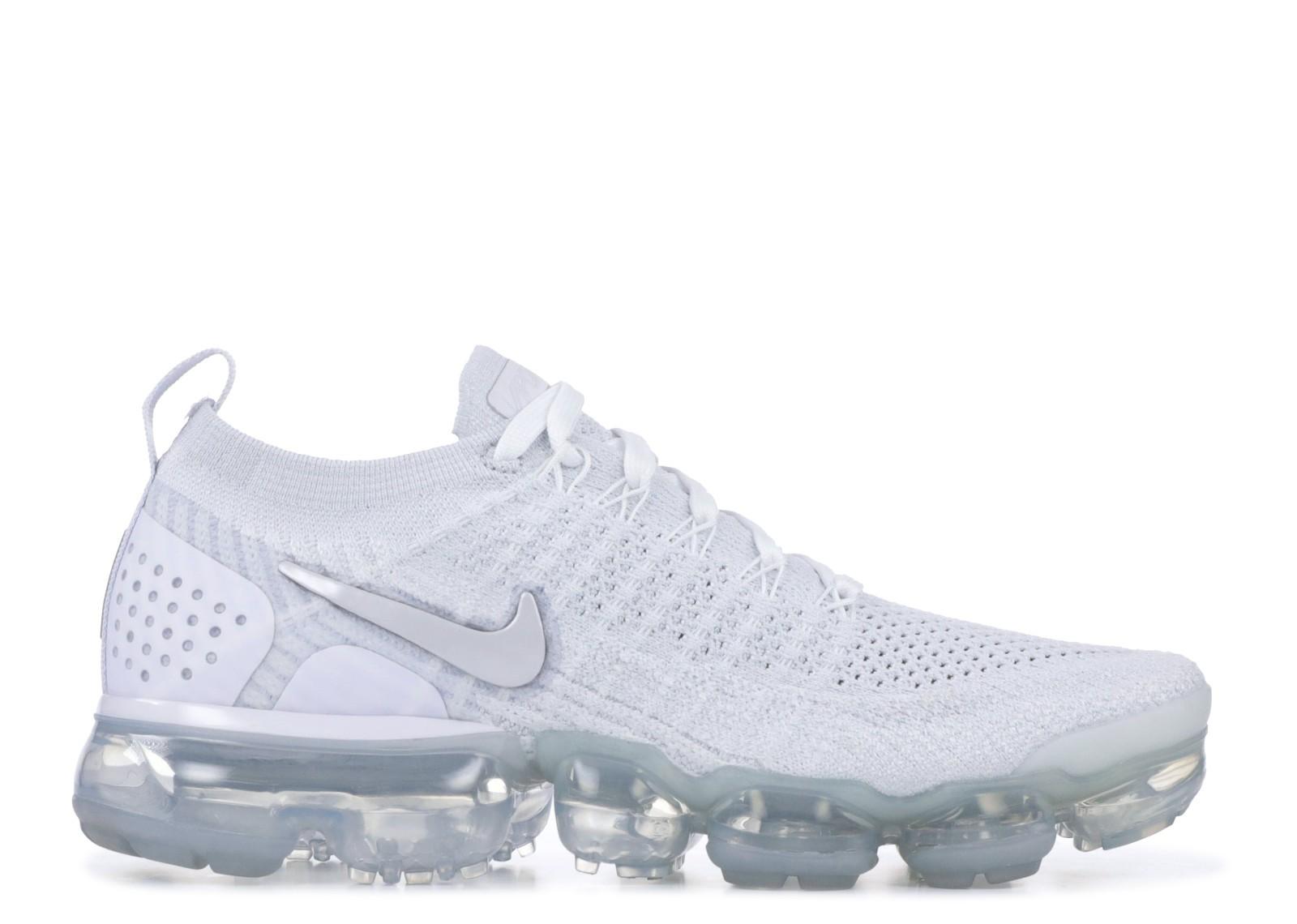 f40e99e215 W Nike Air Vapormax Flyknit 2.0 White Grey Vast 942843-105 - Febbuy