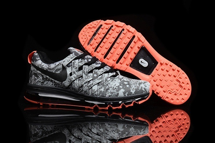 Nike Fingertrap Max NRG Grey orange Electric Camo Trainers Running Shoes 644672 006