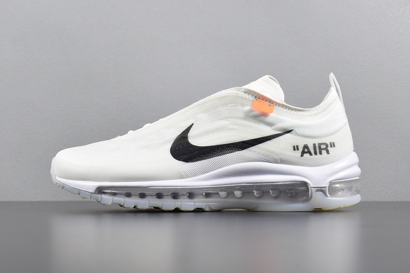 dd6c14df63 Off White Nike Air Max 97 OG Running Shoes AJ4585-100 - Febbuy