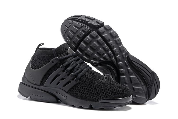 revendeur ab4ac c8f87 Nike Air Presto Flyknit Ultra All Black Men Running Shoes 835570-002