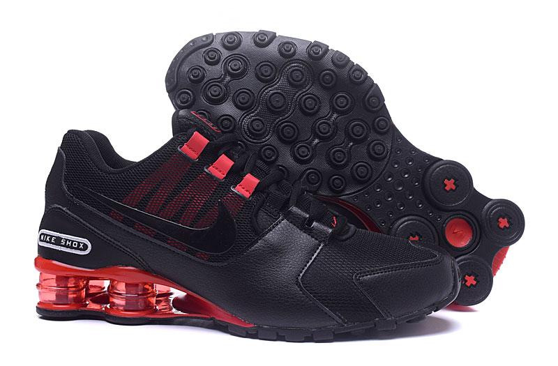 aa1a0937f3c6b3 Nike Air Shox Avenue 802 Black Red Men Shoes - Febbuy