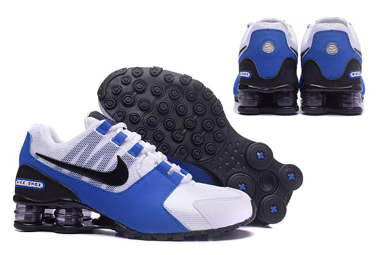 ff5bc6ed740f Nike Air Shox Avenue 802 White Blue Black Men Shoes - Febbuy