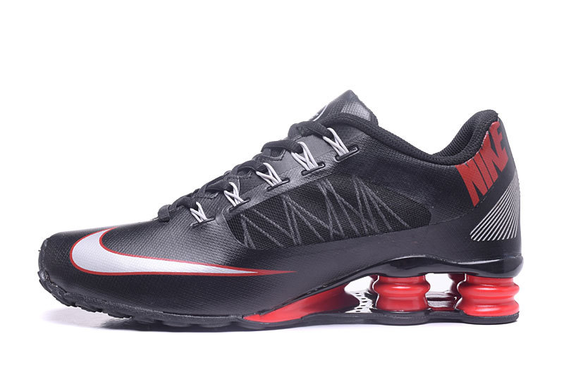 188eea6bc5e Nike Air Shox 808 Running Shoes Men Black Red - Febbuy