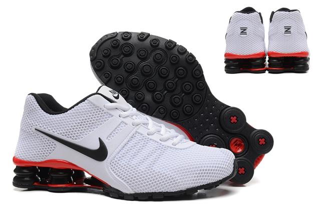 Nike Shox Current 807 Net Men Shoes White Black Red - Febbuy 07e7f012d