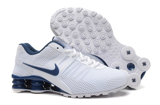 591dbcf6f404 Nike Shox Current 807 Net Men Shoes White Dark Blue - Febbuy