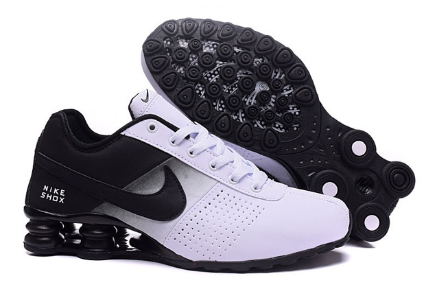 meet d7e98 0d772 Nike Shox Deliver Men Shoes Fade White Black Casual Trainers ...