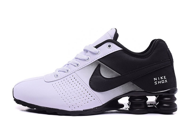 newest 67cb2 a096e ... promo code for nike shox deliver men shoes fade white black casual  trainers sneakers 317547 d665e