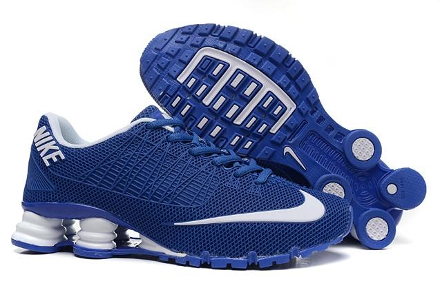 sports shoes 55fd9 4f65e Nike Shox Turbo 21 KPU Men Shoes Sneakers Blue White - Febbuy
