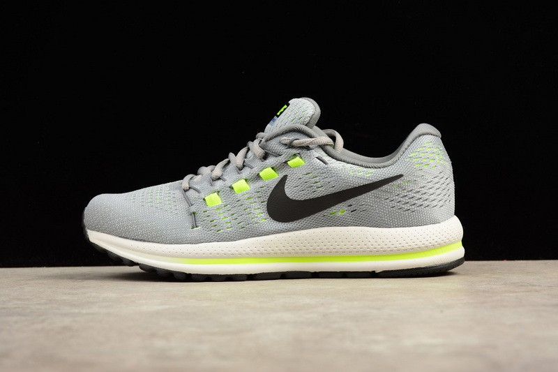 the latest 81c22 52acf Nike Air Zoom Vomero 12 Grey Running Shoes Lace Up 863763-002 - Febbuy