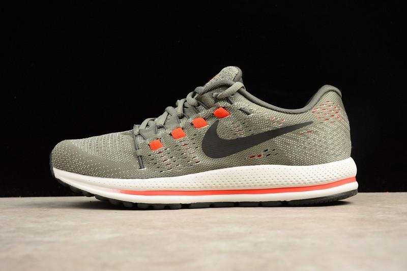 ecacfd20b86 Nike Air Zoom Vomero 12 Orange Grey Running Shoes Lace Up 863762-006