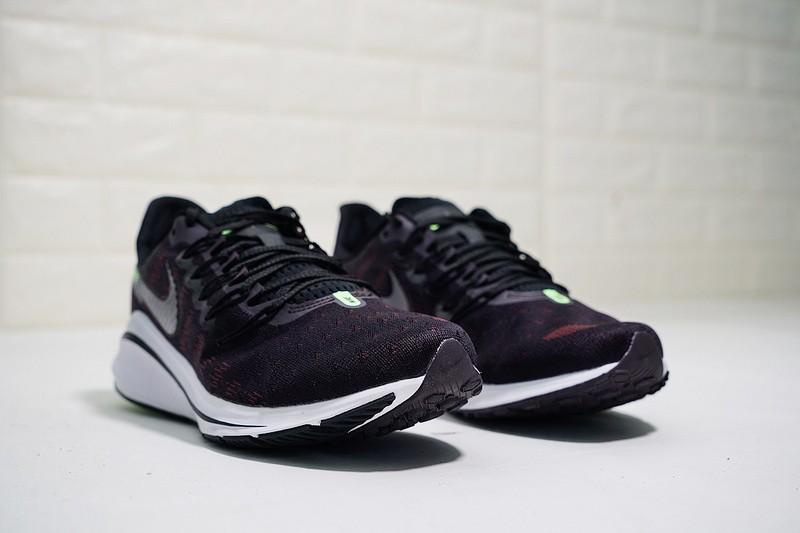 ffc9db66bc9 Nike Air Zoom Vomero 14 Marathon Cushioning Sport Running Shoes Black Grey  Red Volt AH7857-602