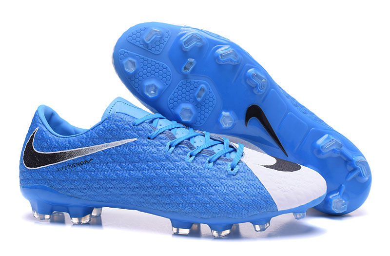 the latest 439bc 3d4b9 Nike Hypervenom Phelon III FG TPU Waterproof Sky Blue White