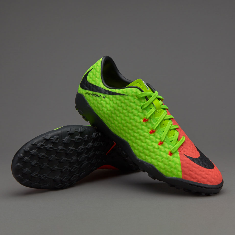 Nike Hypervenom Phelon III TF Waterproof Green Orange Black