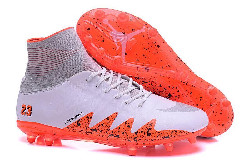 9dbeded0e Nike Hypervenom Phantom II NJR JORDAN Soccers Football Shoes White Red