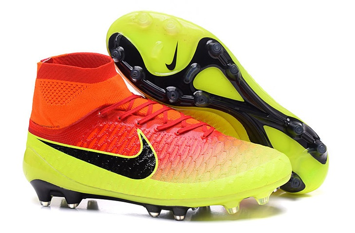 nike magista obra red and yellow