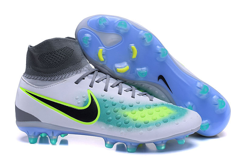 Prev Nike Magista Obra II FG Soccers Football Shoes Volt Black Total Grey  Blue. Zoom ef678b73b4