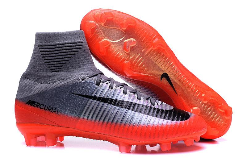 reputable site 73385 383c4 Prev Nike Mercurial Superfly V CR7 FG high help silver orange football shoes