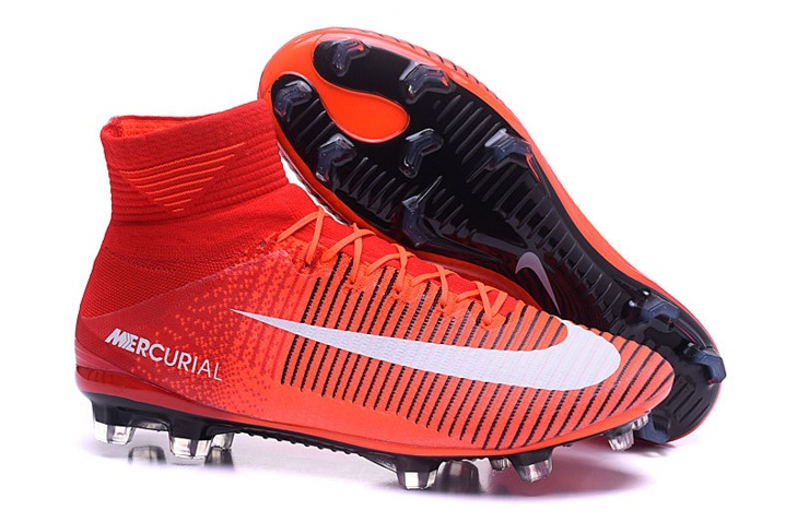 new styles a5cef f4370 NIke Mercurial Superfly V FG ACC Kids Soccers Shoes Red ...