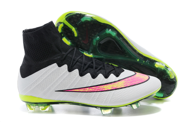 newest e880c 8fb43 Prev Nike Mercurial Superfly FG ACC Soccer Cleats White Black Volt Pink  641858-170. Zoom