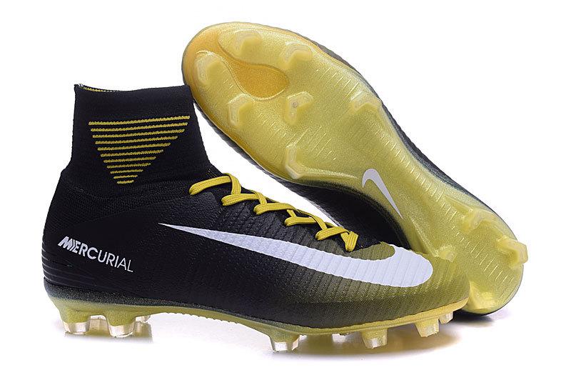 9f6a8ba74 Prev Nike Mercurial Superfly V FG ACC High Football Shoes Soccers Black  Yellow. Zoom