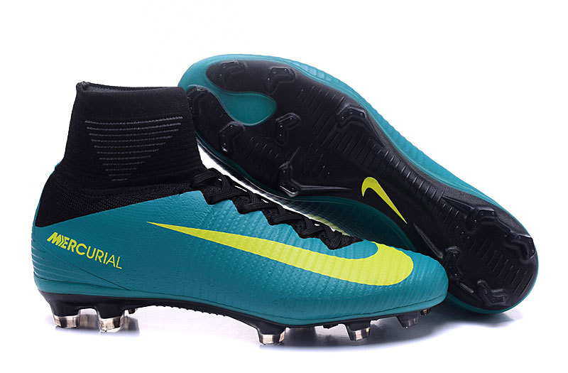 6e8870342 Nike Mercurial Superfly V FG ACC High Football Shoes Soccers Blue ...