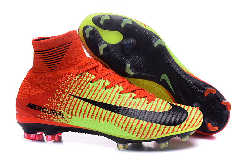 34d53b49f1a6 Prev Nike Mercurial Superfly V FG ACC High Football Shoes Soccers Red  Yellow. Zoom