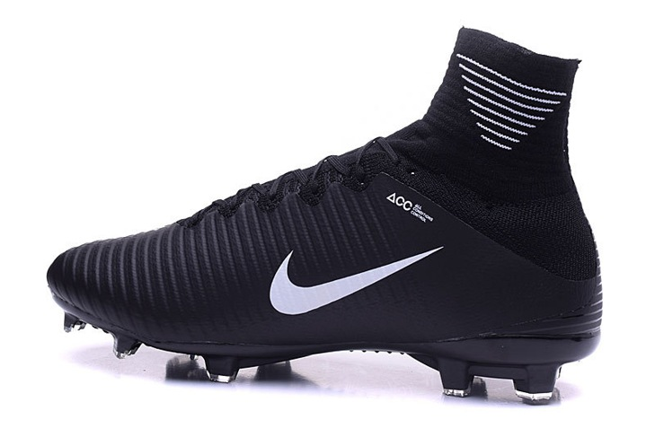 3748765d5 ... france nike mercurial superfly v fg acc kids soccers shoes all black  white 69fa8 1a840
