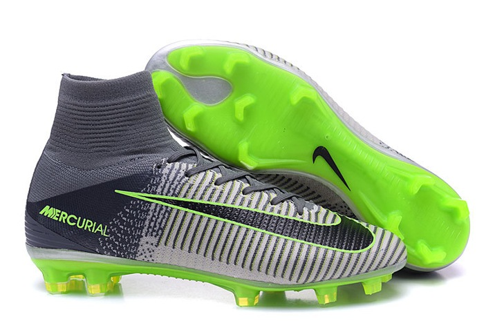 34644f1a6 Prev Nike Mercurial Superfly V FG Elite Pack ACC Men Football Shoes Soccers  Grey Green Black. Zoom