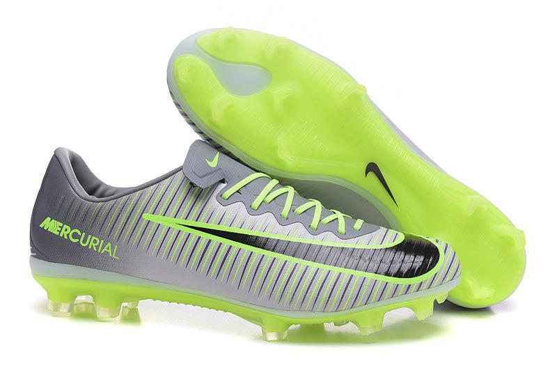 6aec6618d Prev Nike Mercurial Vapor XI FG Soccers Shoes Grey Green Black. Zoom