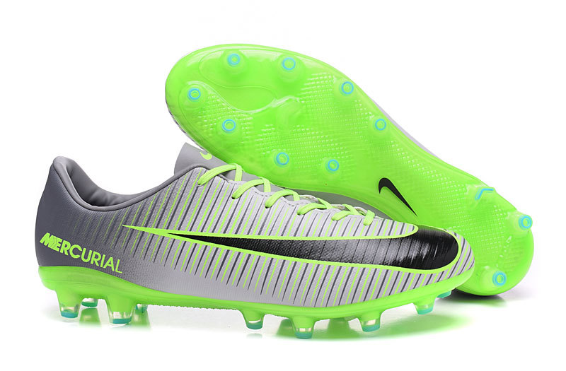 buy popular add6a cca1b Prev Nike Mercurial Superfly CR7 AG Low Soccers Football Shoes Green Grey.  Zoom