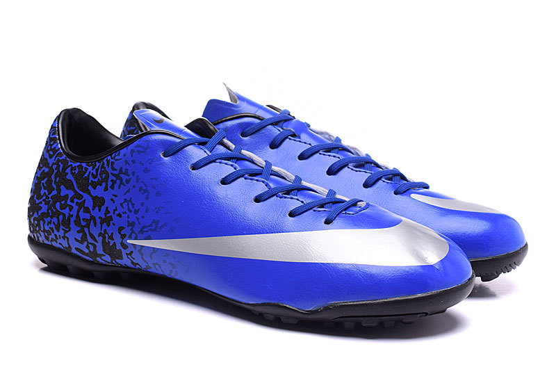 purchase cheap 952a6 66645 ... Nike Mercurial Victory V CR7 TF Soccers Ronaldo Royal Blue Metallic  Silver Racer Blue 684878- ...