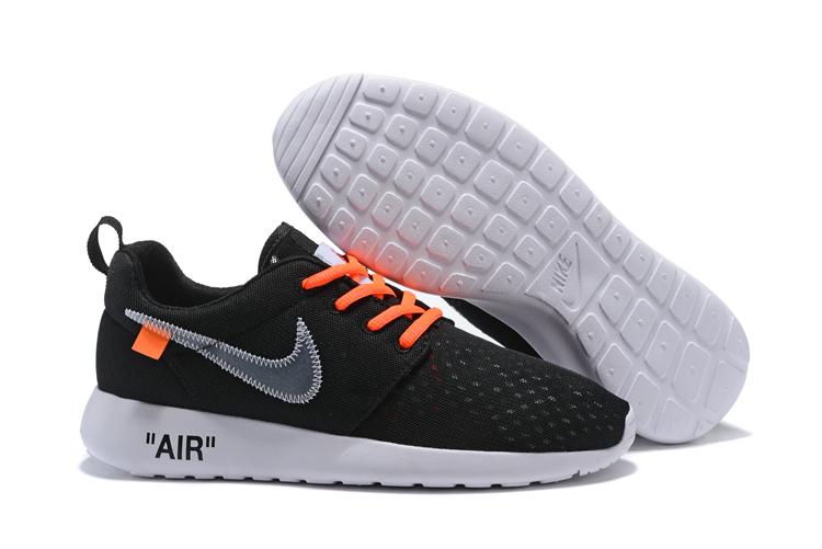 new product e0549 07d71 Prev Off White Nike Roshe One BR Running Shoes Black Orange 718552